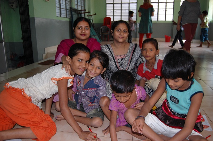 Children at a Nabo Asha Centre