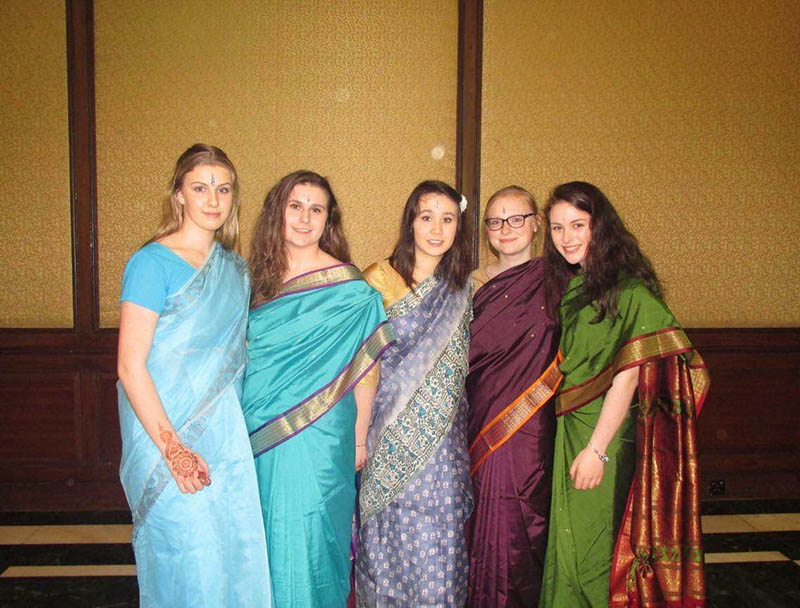 The 5 students from Sacred Heart Secondary School enjoying their time in Kolkata, March 2016