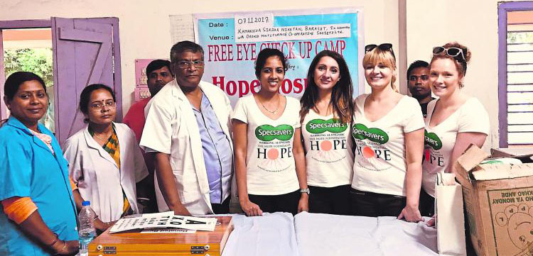 Specsavers Team in Kolkata - The Hope Foundation