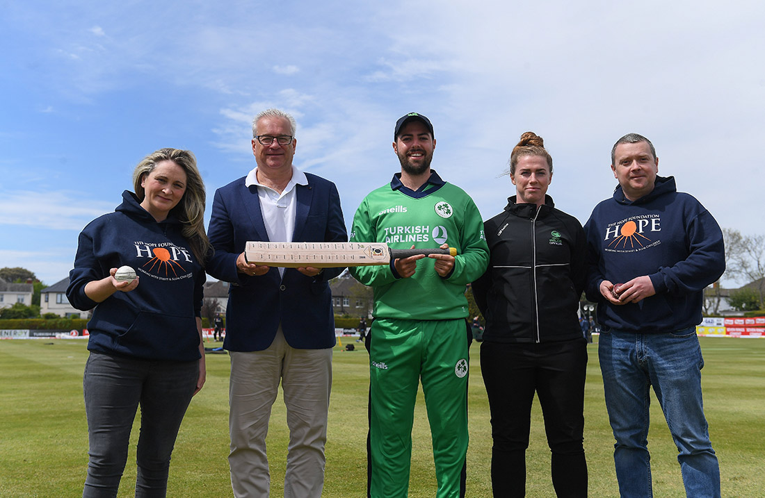 The Hope Foundation during the One Day International match between Ireland and Bangladesh at Clontarf Cricket Club