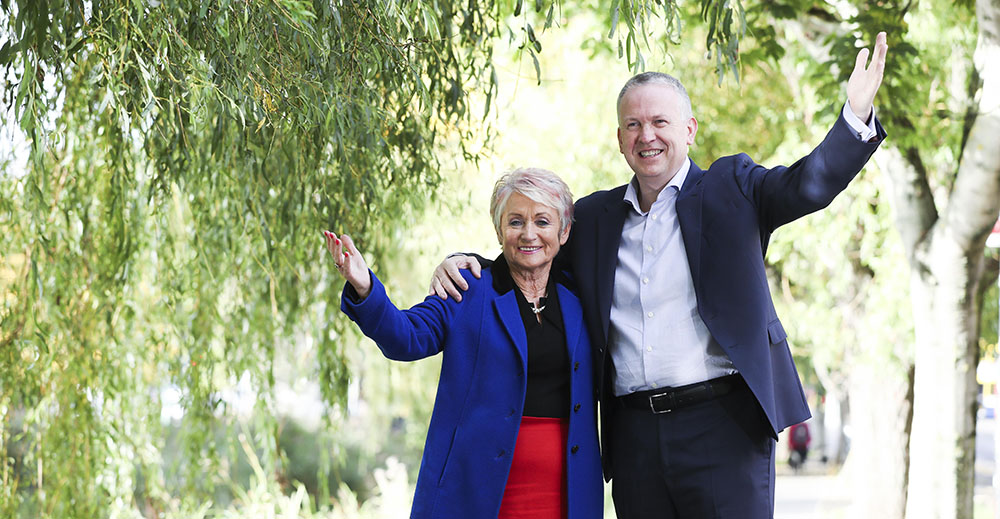 HOPE founder Maureen Forrest with Enet group CEO Peter McCarthy